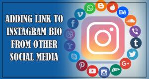 instagram link to other social media