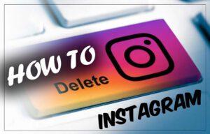 instagram delet account