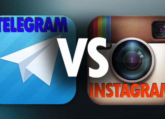 instagram vs telegram